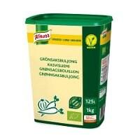 Knorr Økologisk Grønsagsbouillon, lavsalt, granulat, 1kg / 125 L -