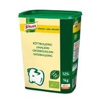 Knorr Økologisk Oksebouillon, lavsalt, granulat, 1kg / 125L -