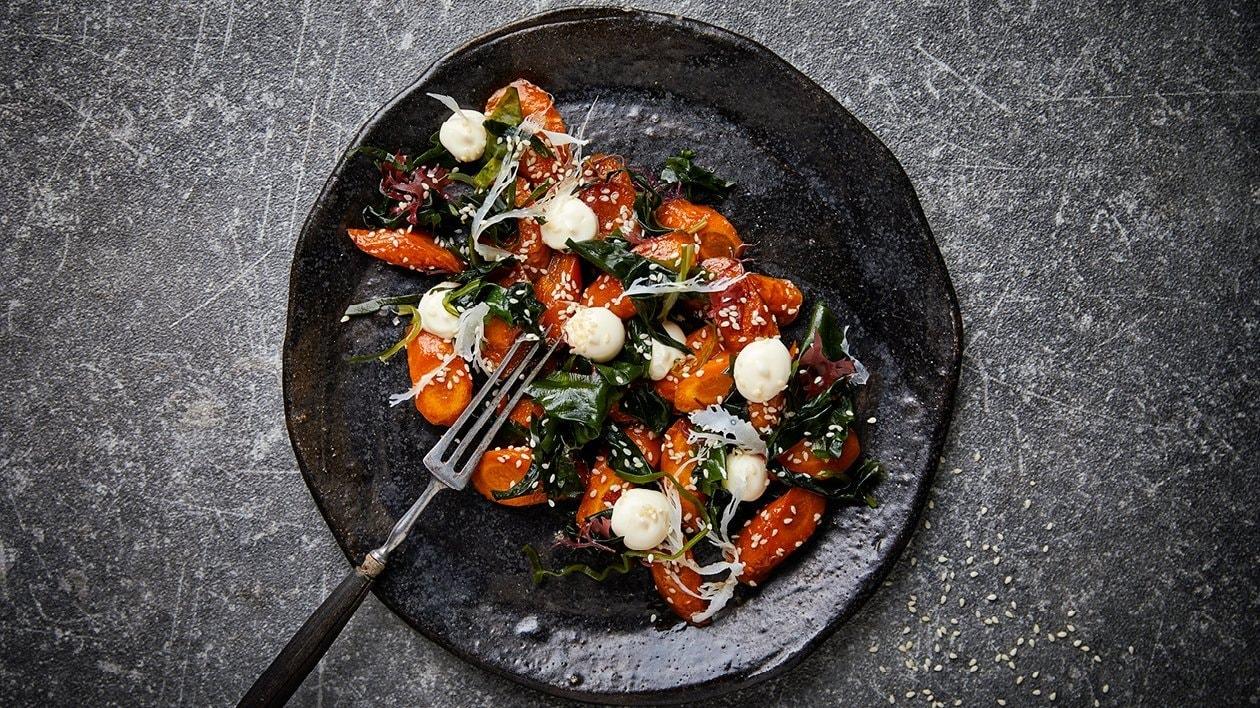 Gulerødder med røgsmag, tang og citrusmayonnaise