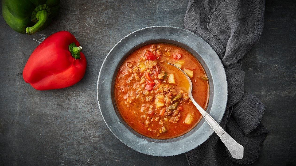 Vegetarisk Nomince gullashsuppe