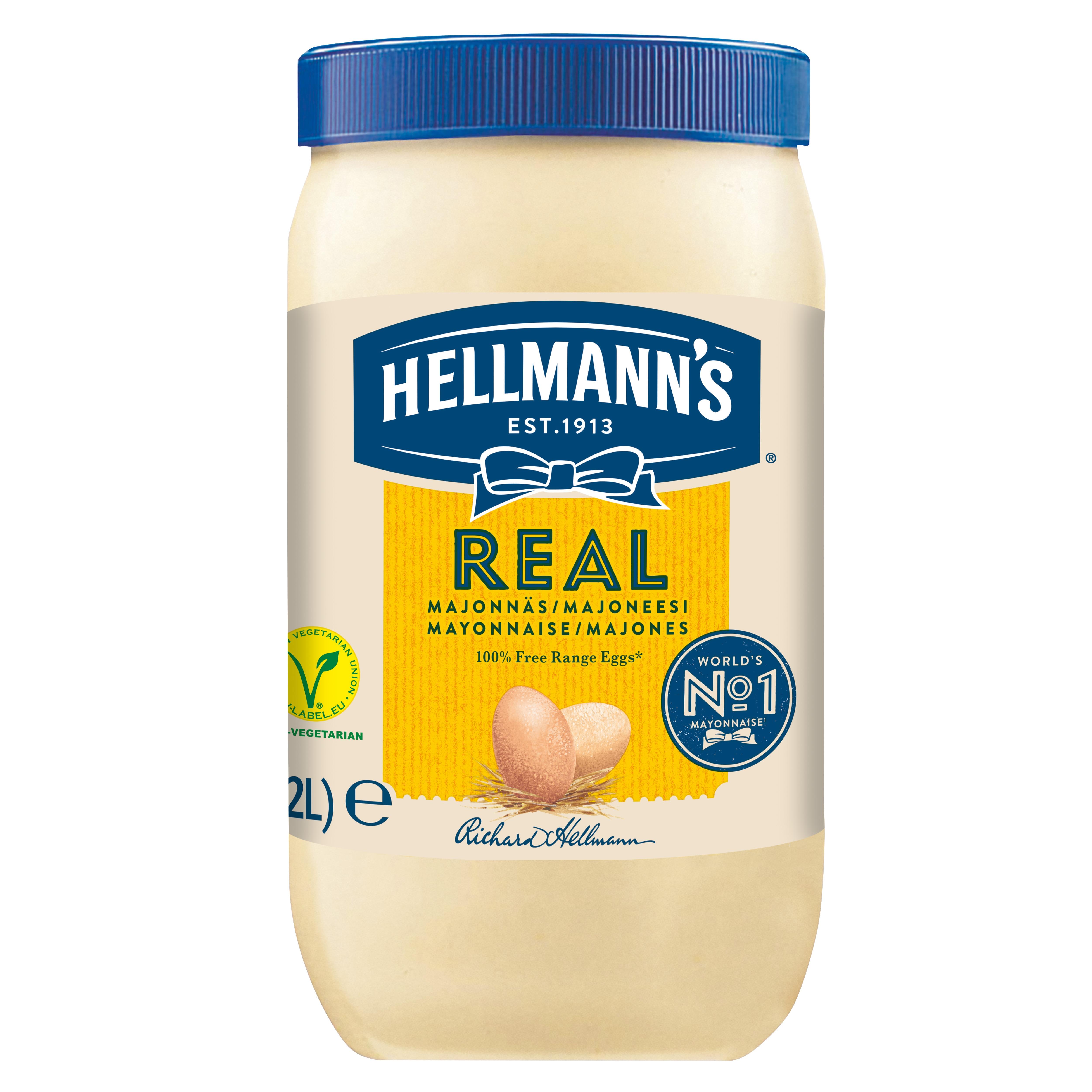Hellmann's Real Mayonnaise 2 l. / 1,85 kg -